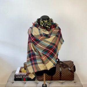 Plaid Check Blanket Scarf